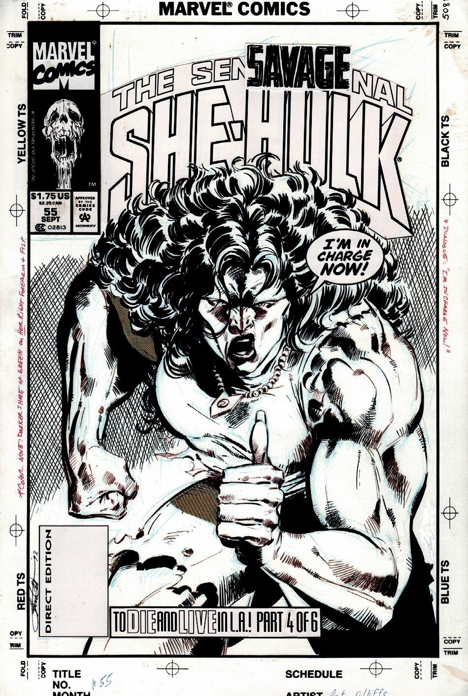 Sensational She-Hulk #55 Cover (1993)