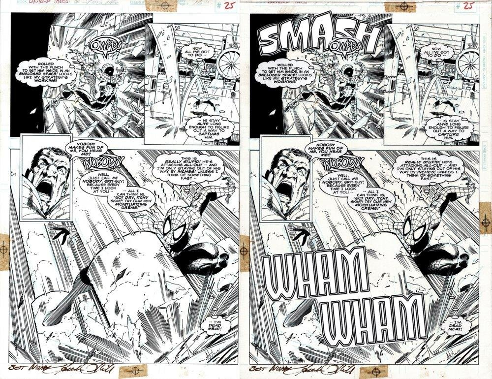 Untold tales Of Spider-Man #3 SPLASH (SOLD LIVE ON 'DUELING DEALERS OF COMIC ART' EPISODE #13 PODCAST ON 4-21-2021 (RE-WATCH OUR LIVE ART SELLING PODCAST HERE!)