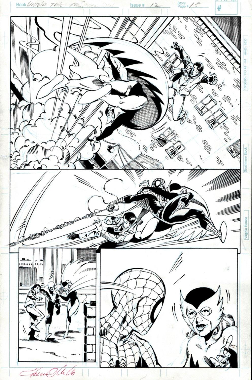Untold tales Of Spider-Man #12 p 18 (Spiderman & Bluebird Battle The Scarlet Beetle!) 1996