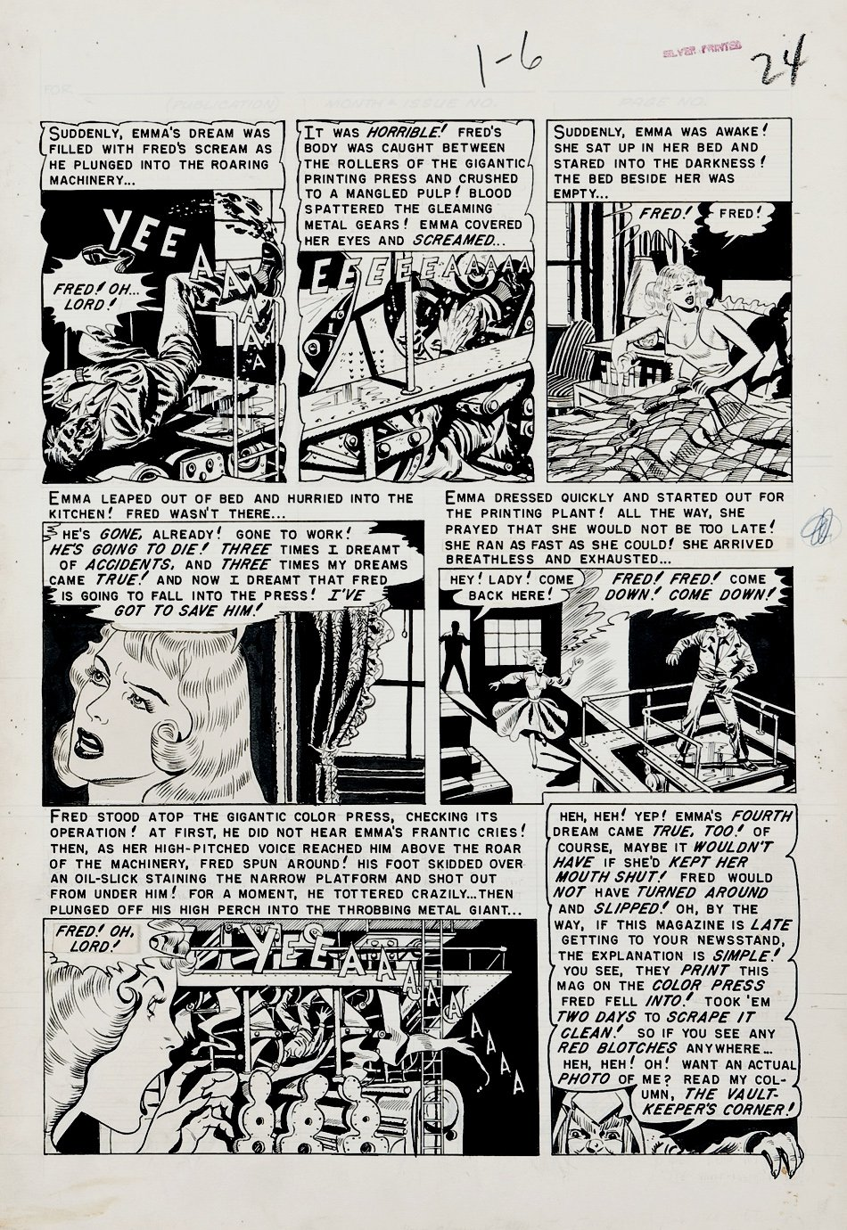 Vault of Horror #24 p 6 (Large Art) 1952