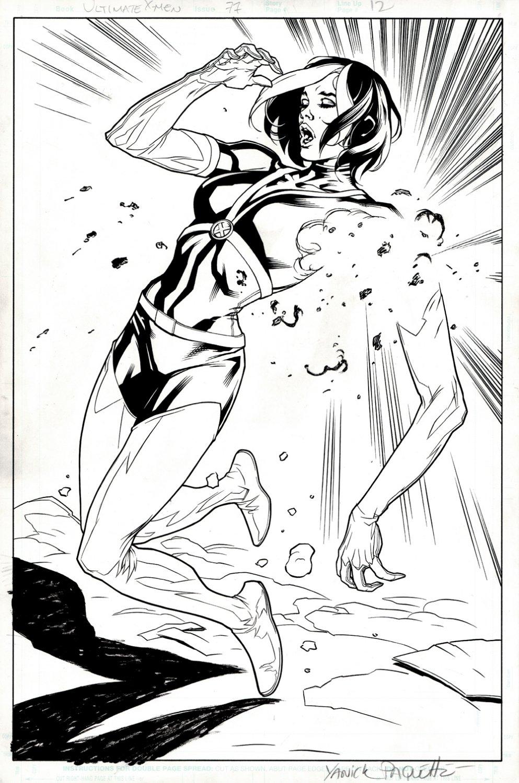 Ultimate X-Men #77 p 12 SPLASH (Rogue's Arm Blown Off!) 2005