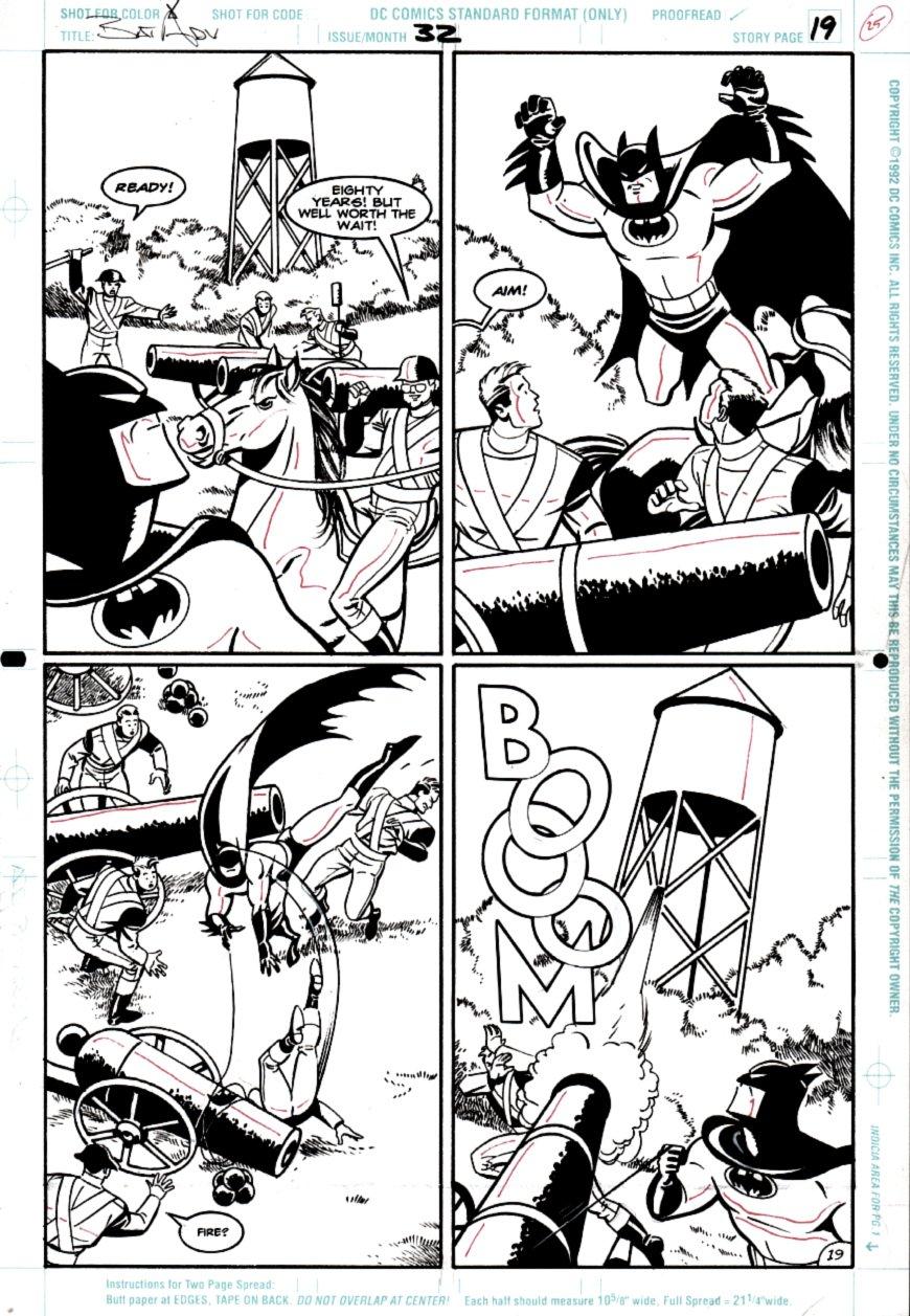 Batman Adventures #32 p 19 (Batman 4 Panel Battle!) 1995