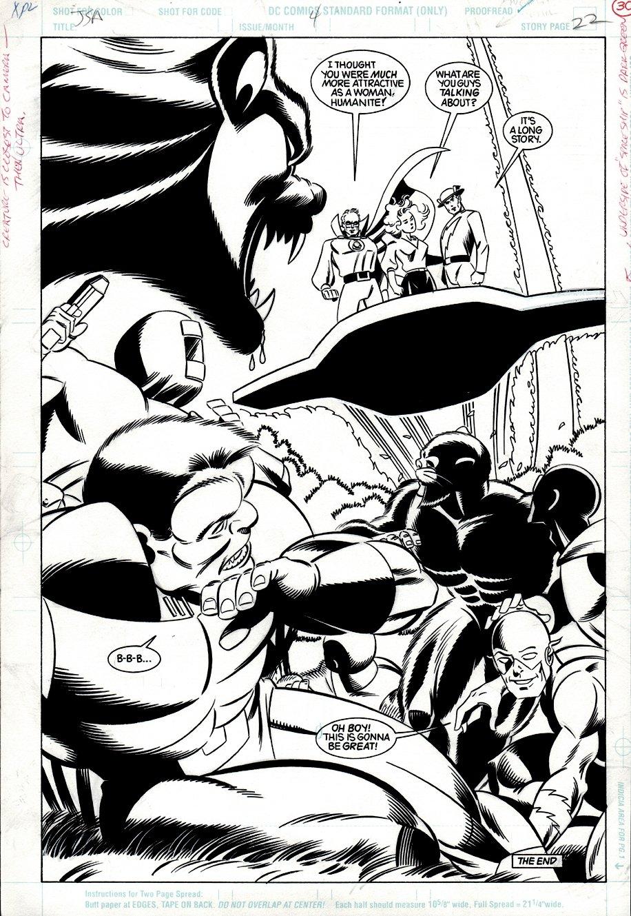 Justice Society of America #4 p 22 SPLASH (Golden Age Flash, Green Lantern, Dr. Mid-Nite, Wildcat, Flash!) 1992