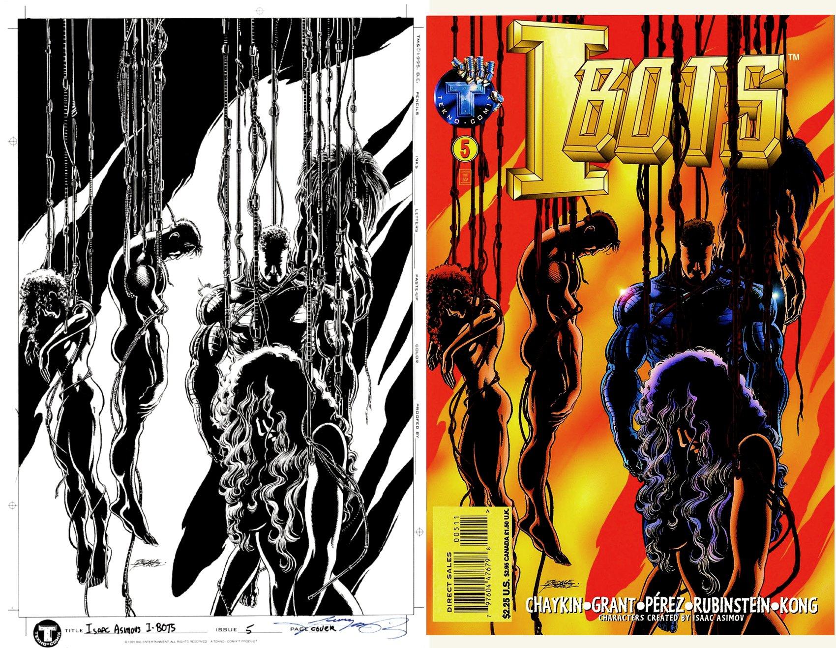 Isaac Asimov's I-BOTS#5 Cover (PEREZ PENCILS & INKS! Killaine; Stonewall; Psy-4; Radiant, Itazura!) 1996