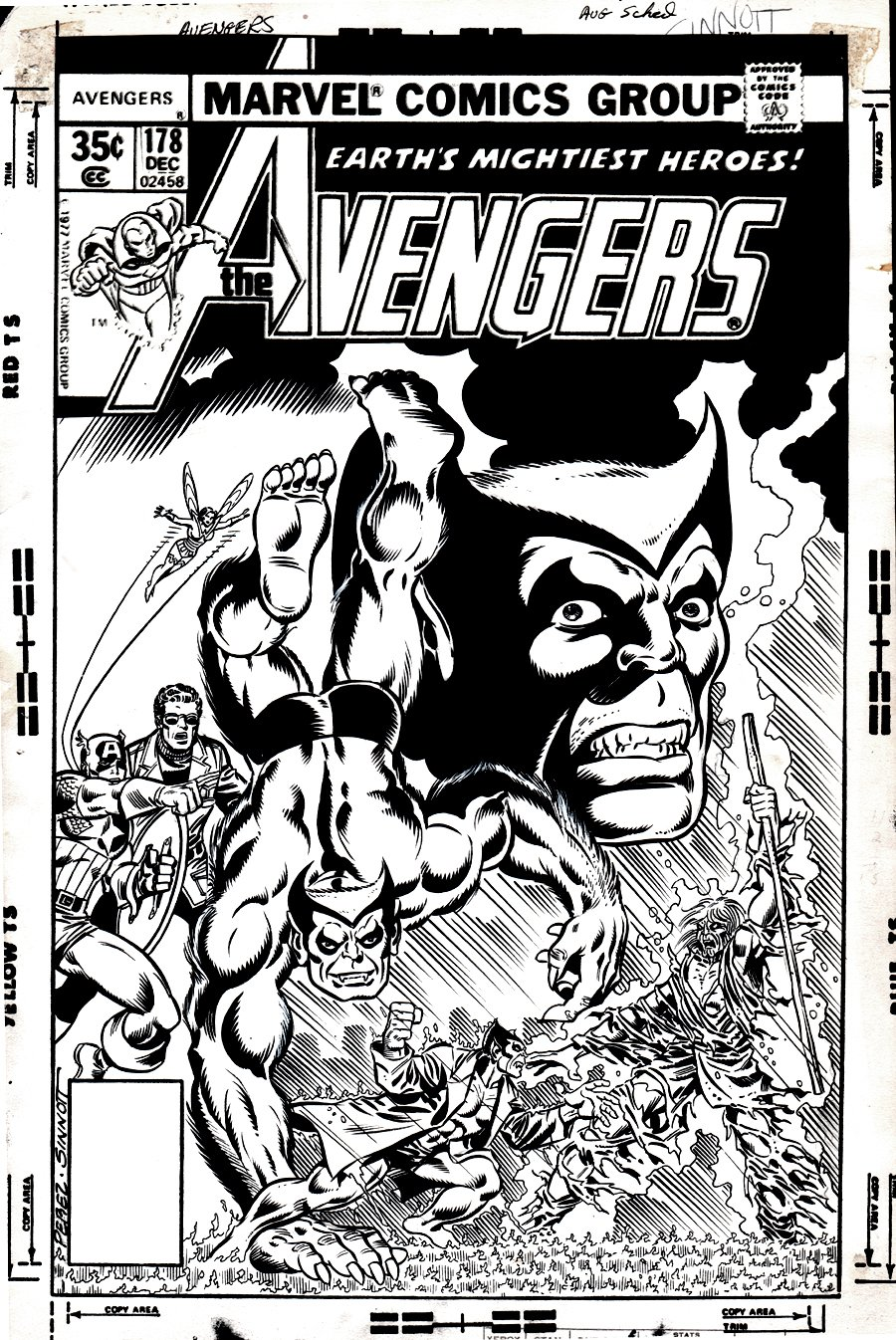Avengers #178 Lost Cover (1978)