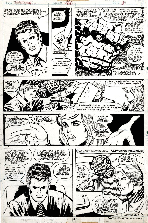 Fantastic Four #166 p 3 (ENTIRE FF TEAM!) 1975