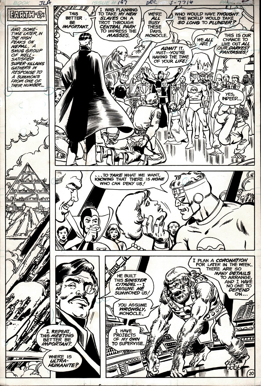 Justice League of America #197 p 20 (JLA / JSA EARLY CRISIS CROSS-OVER PAGE!) 1981