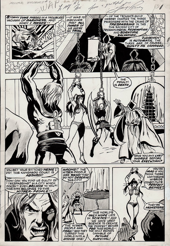 Monsters Unleashed #8 p 53 (GULLIVER JONES  & BABE IN BONDAGE!) 1974