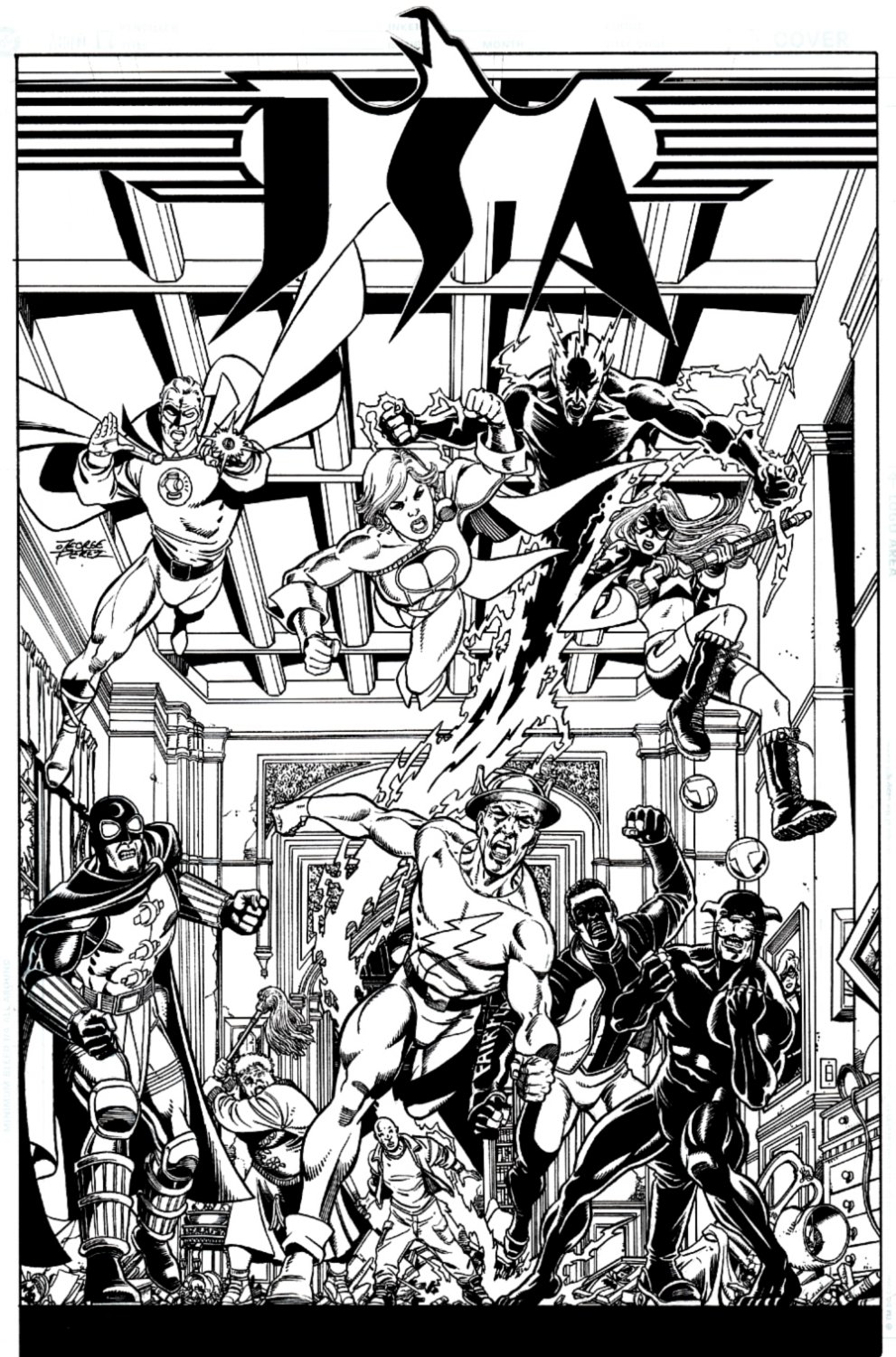 JSA #84 Cover (10 Golden Age & Current Heroes!) 2006