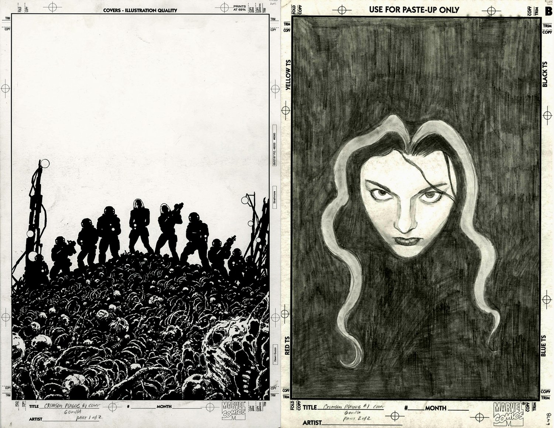 Crimson Plague #1 Cover (Double Cover Art) 2000