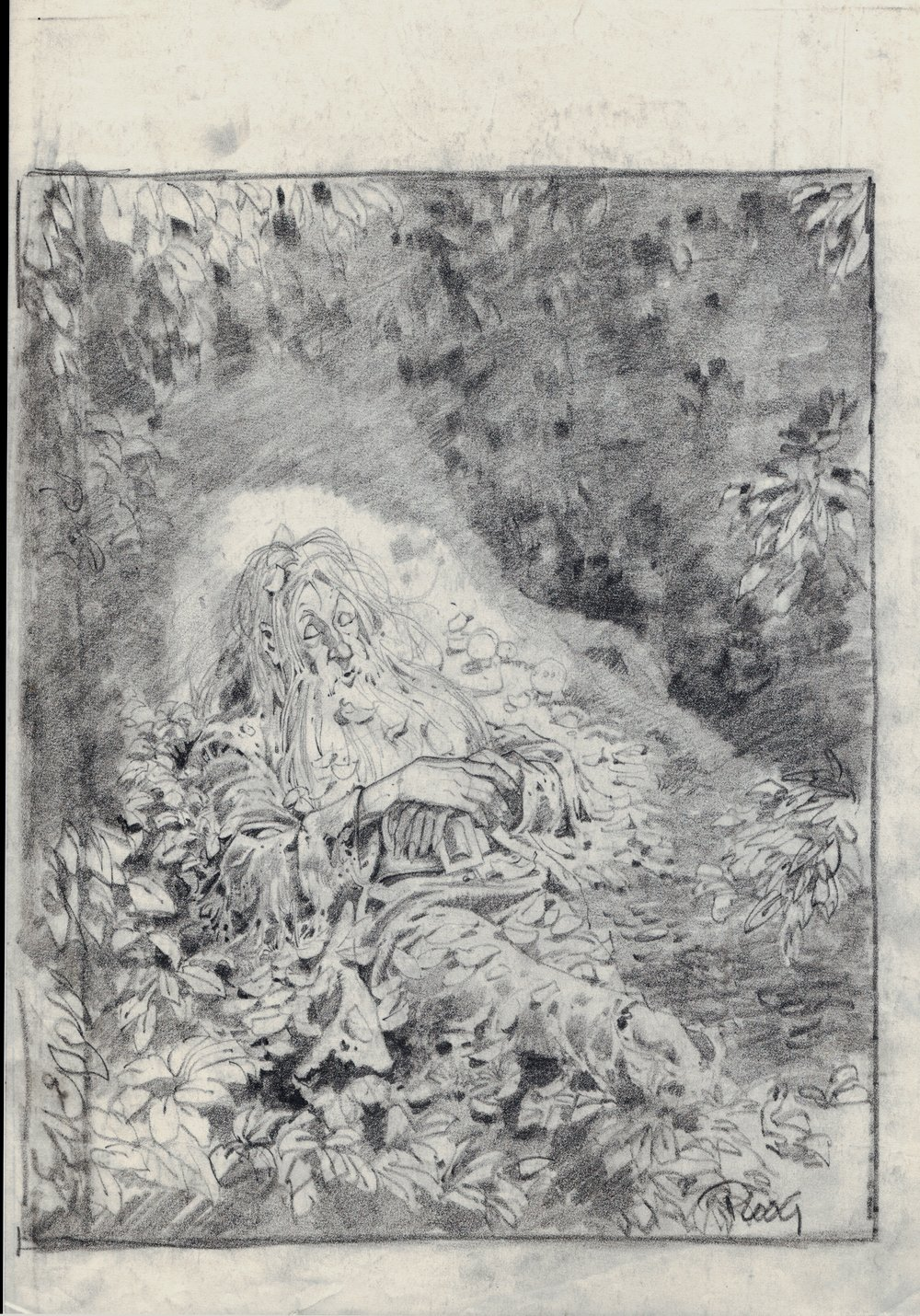 Rip Van Winkle Detailed Drawing (SOLD LIVE ON THE ROMITAMAN ART DROP PODCAST ON 10-9-2021