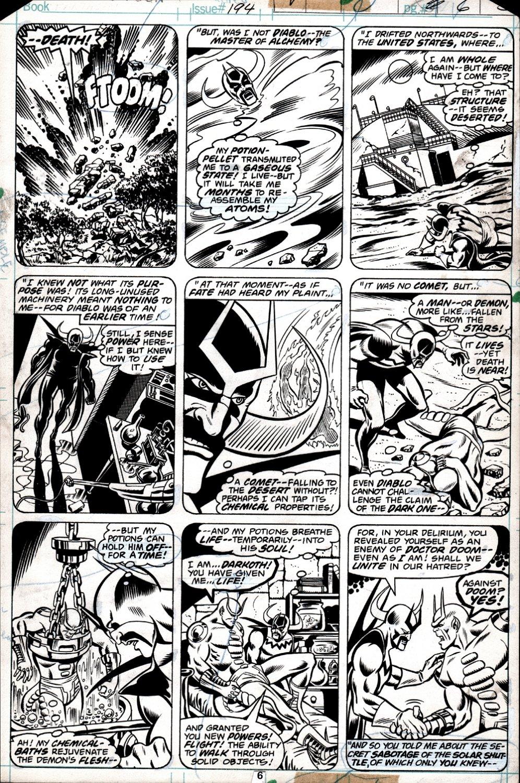 Fantastic Four #194 p 6 (Darkoth & Diablo First Meeting!) 1978