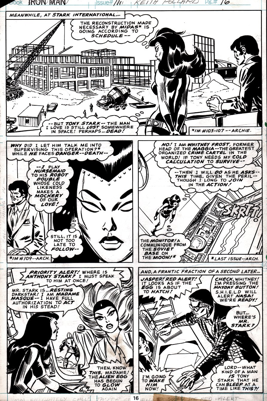 Iron Man #111 p 16 (Madame Masque & Others!) 1978