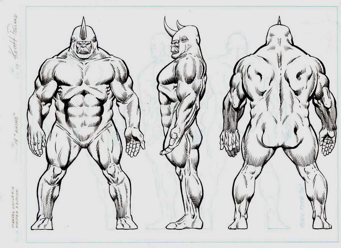 Marvel Universe- Master Edition #14 p 18 Rhino Pinup