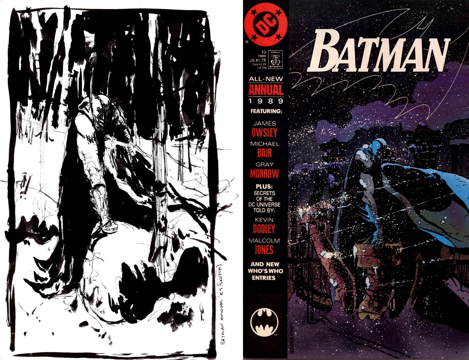 Batman Annual 13 Cover Prelim (SOLD LIVE ON 'DUELING DEALERS OF COMIC ART' EPISODE #8 PODCAST ON 3-17-2021 (RE-WATCH OUR LIVE ART PODCAST HERE!)