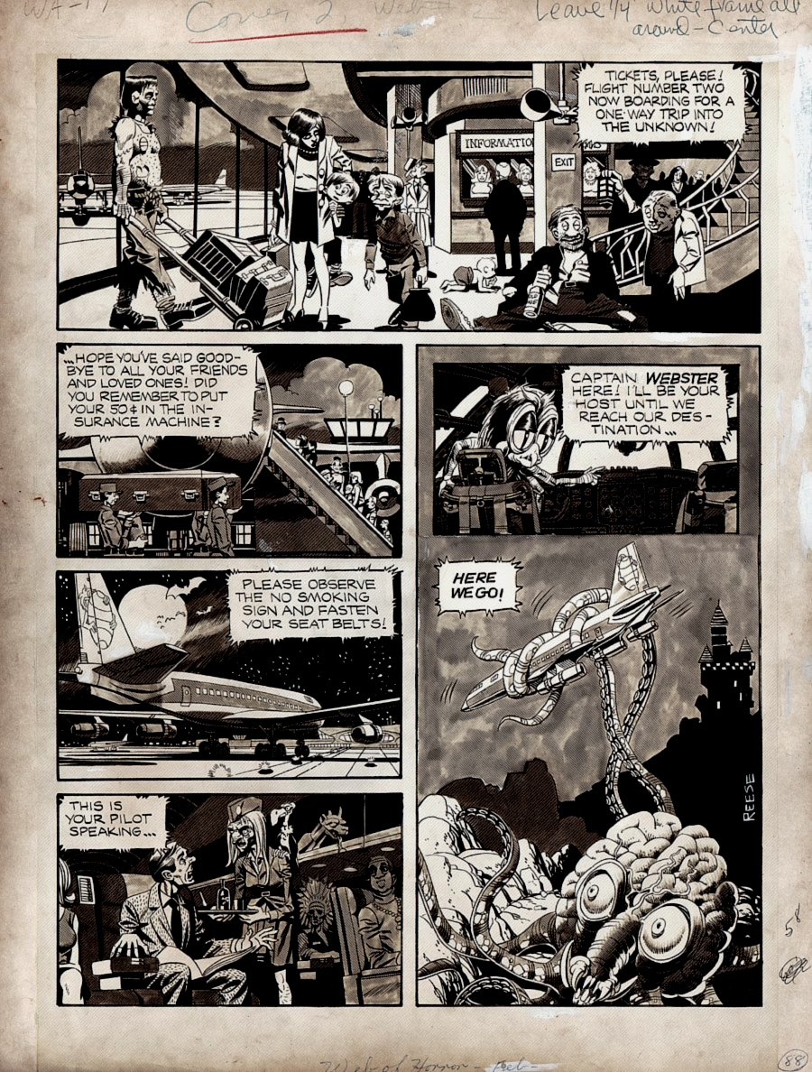 Web of Horror #2 'Inside Front Cover' (GREAT HORROR ART!) Large Art -1969