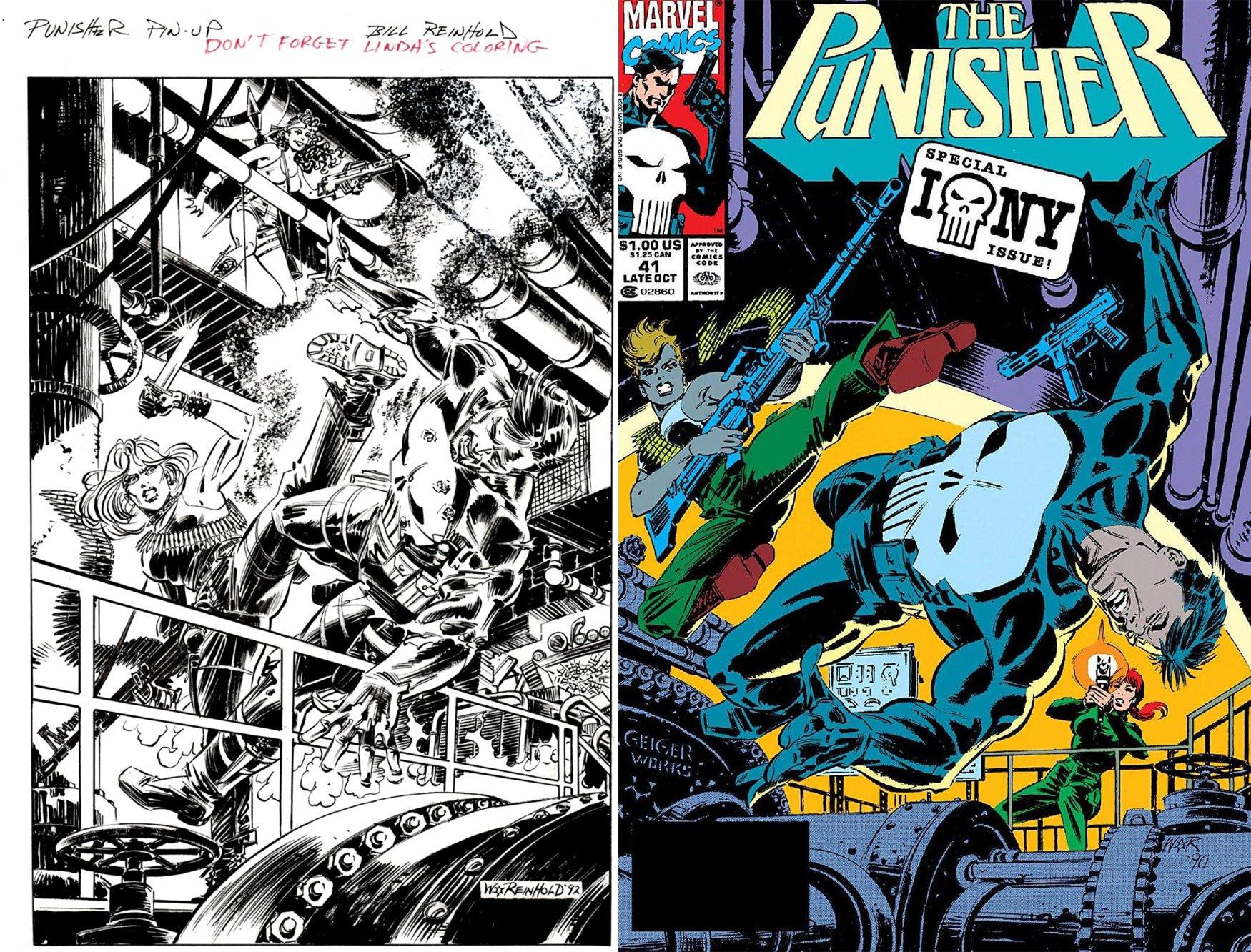 Punisher #41 Unused Cover (1990)