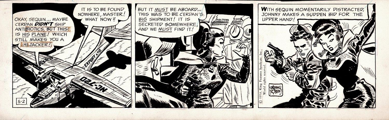 Johnny Hazard Daily Strip 5-2-1959 (Hazard Battles The Sexy Gun-Toting Sequin!))