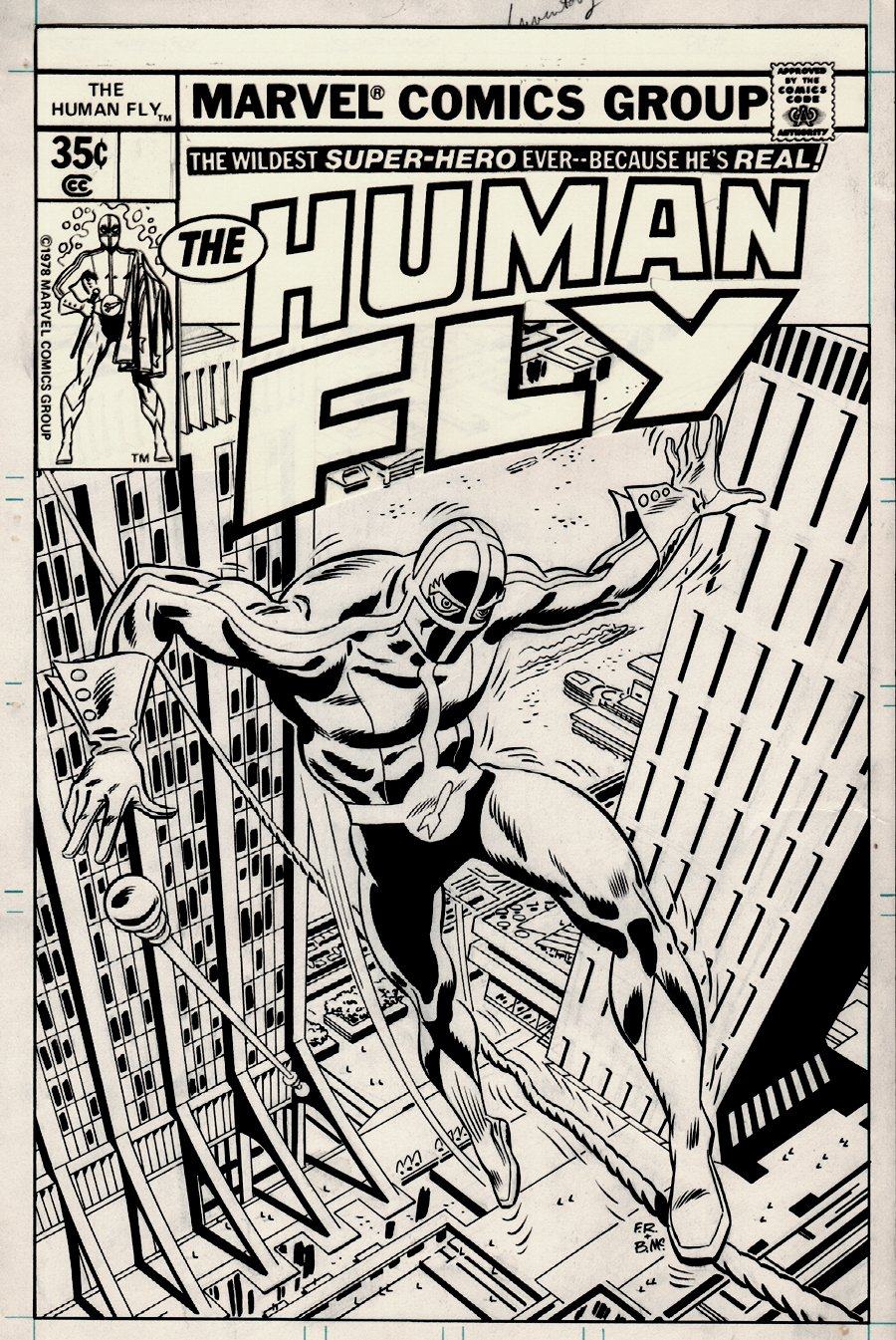 The Human Fly #14 Unpublished Cover (1978)