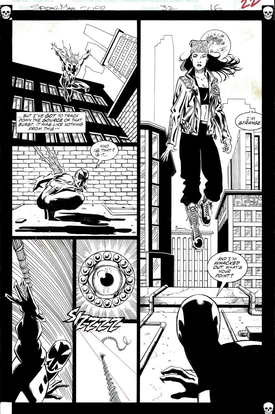 Spider-Man 2099 #32 p 16 Half Splash (VERY FIRST DR. STRANGE 2099 APPEARANCE!) 1995
