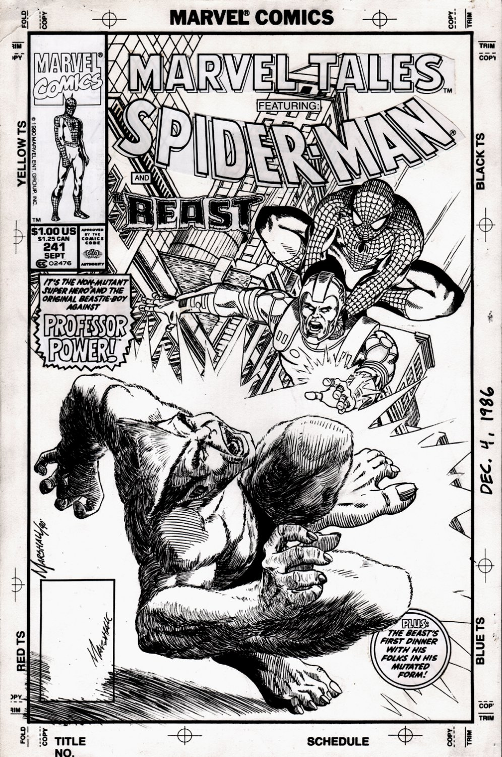Marvel Tales #241 Cover (Spider-Man & Beast!) 1990