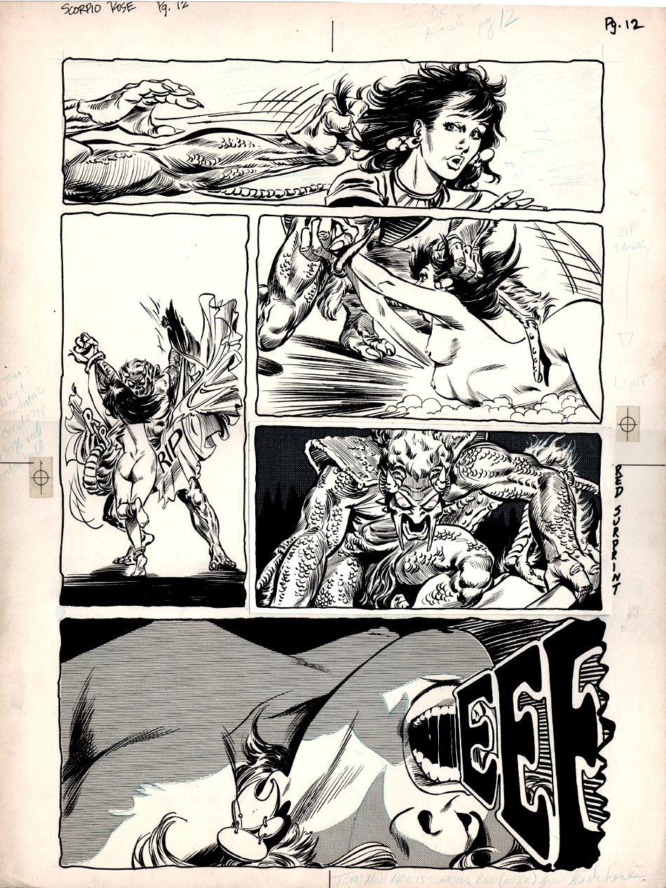 Scorpio Rose #1 p 12 (Large Art Origin Page) 1982