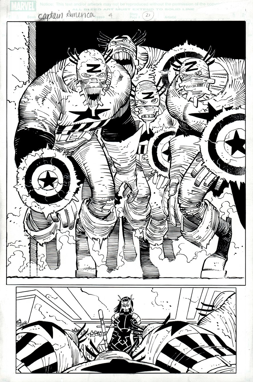 Captain America #4 p 21 SPLASH (2012)