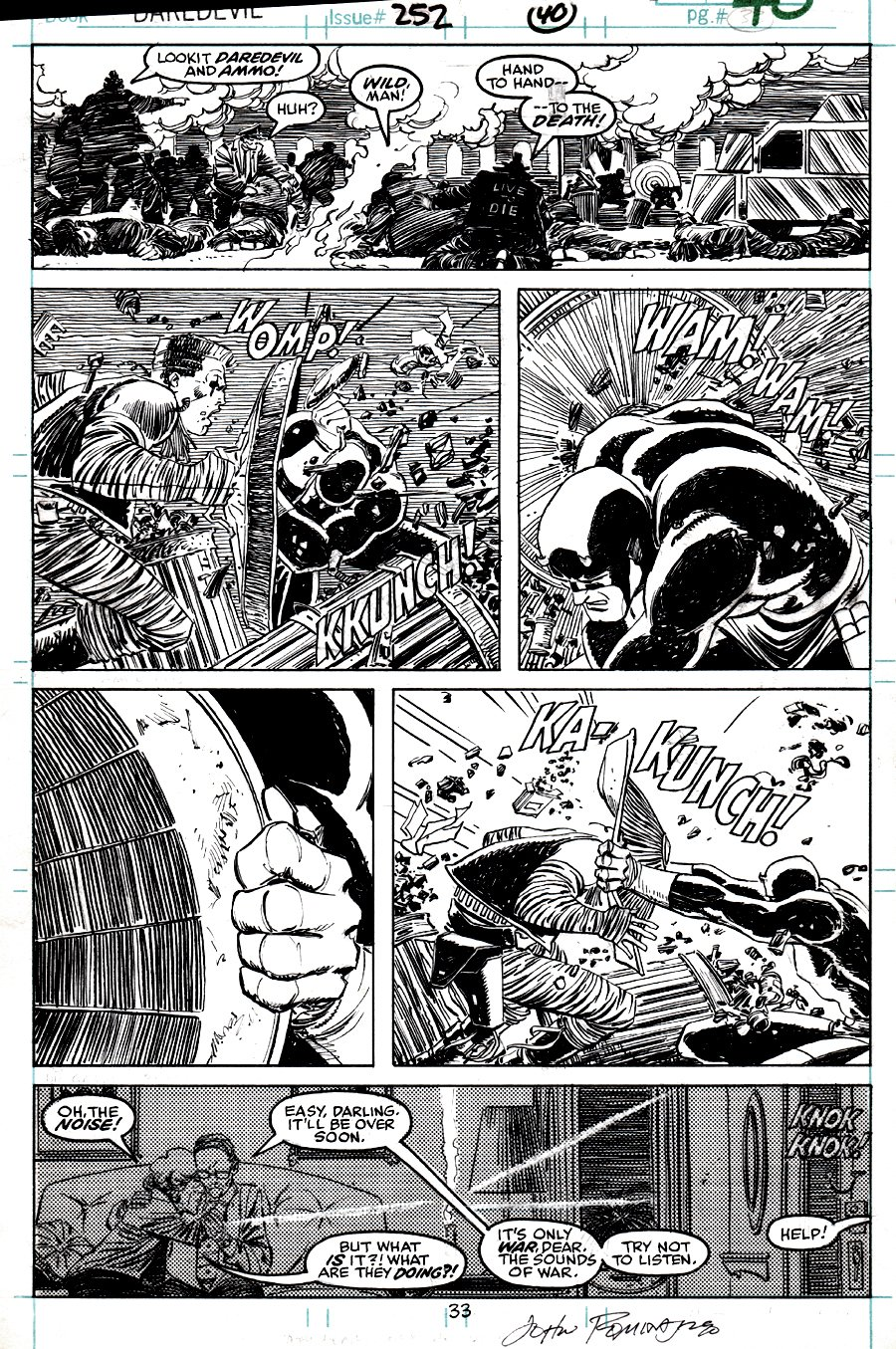 Daredevil #252 p 33 (DD BATTLE THROUGHOUT ENTIRE PAGE!) 1988