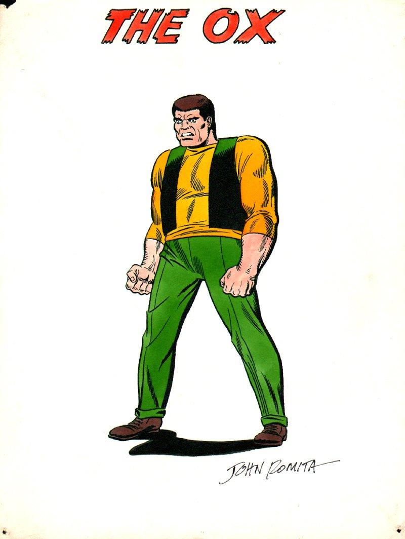 1969 Marvel Mania: THE OX Villain Pinup