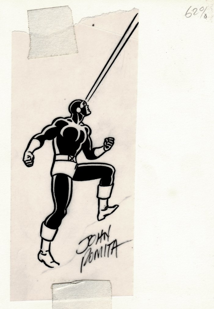 Cyclops Published Pinup (SOLD LIVE ON 'DUELING DEALERS OF COMIC ART' EPISODE #39 PODCAST ON 10-4-2021(RE-WATCH THIS FUNNY ART SELLING SHOW HERE)