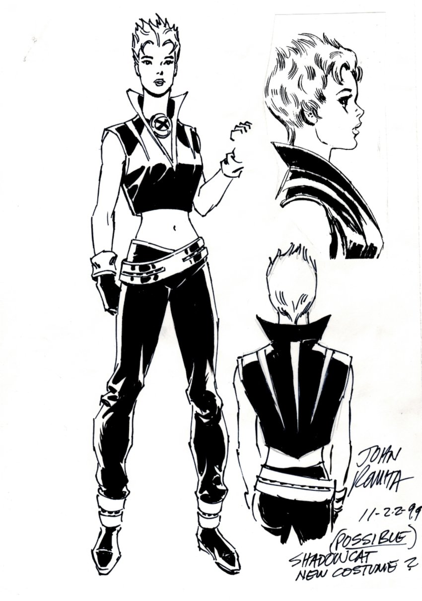 X-Men: SHADOWCAT New Costume Design (SOLD LIVE ON 'DUELING DEALERS OF COMIC ART' EPISODE #38 PODCAST ON 9-29-2021