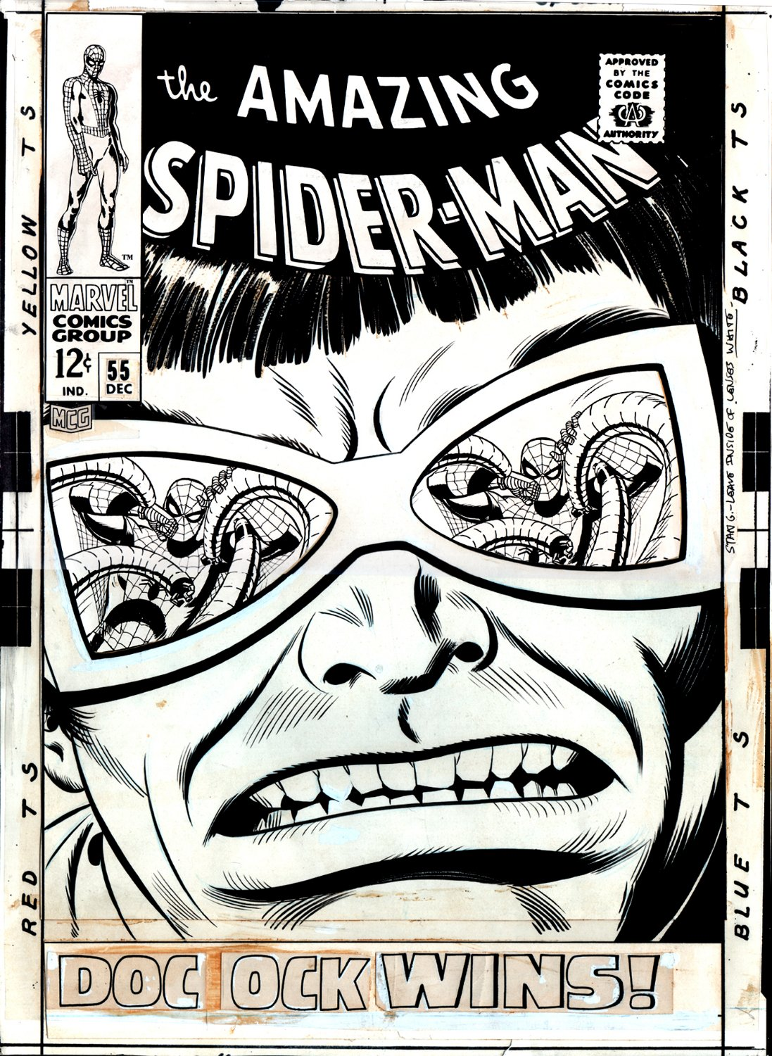 Amazing Spider-Man #55 Large Art Cover (1967)