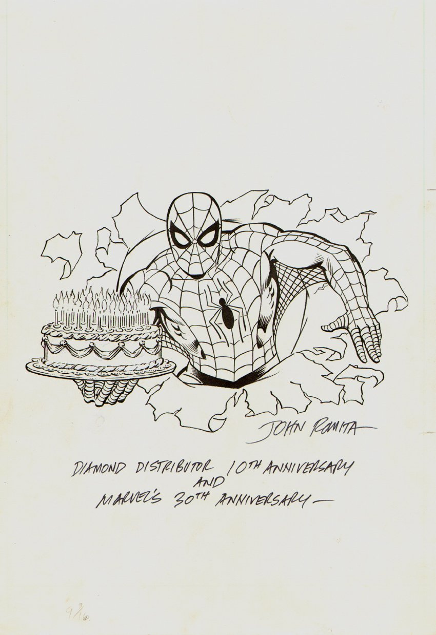 Spider-Man Marvel 30th Anniversary Merchandising Art (1991)