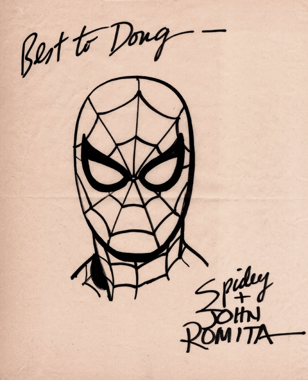 1970's Spider-Man Pinup (SOLD LIVE ON 'DUELING DEALERS OF COMIC ART' EPISODE #9 PODCAST ON 3-24-2021 (RE-WATCH OUR LIVE ART SELLING PODCAST HERE!)