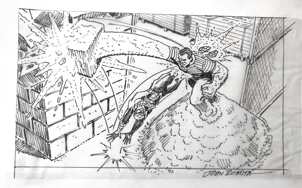 Spiderman Battling Sandman ACTIVISION Video Game Prelim Pinup
