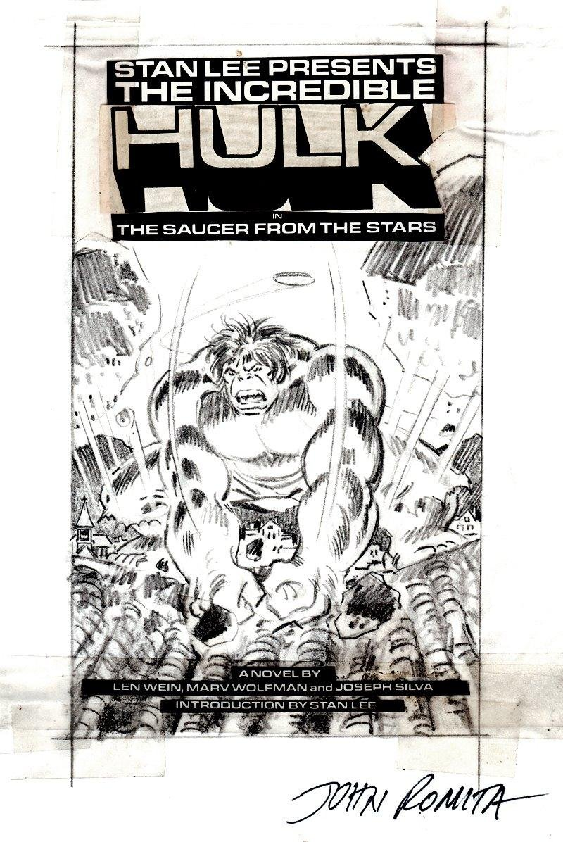 Hulk Paperback Cvr Pencils (SOLD LIVE ON 'DUELING DEALERS OF COMIC ART' EPISODE #12 PODCAST ON 4-14-2021 (RE-WATCH OUR LIVE ART SELLING PODCAST HERE!)