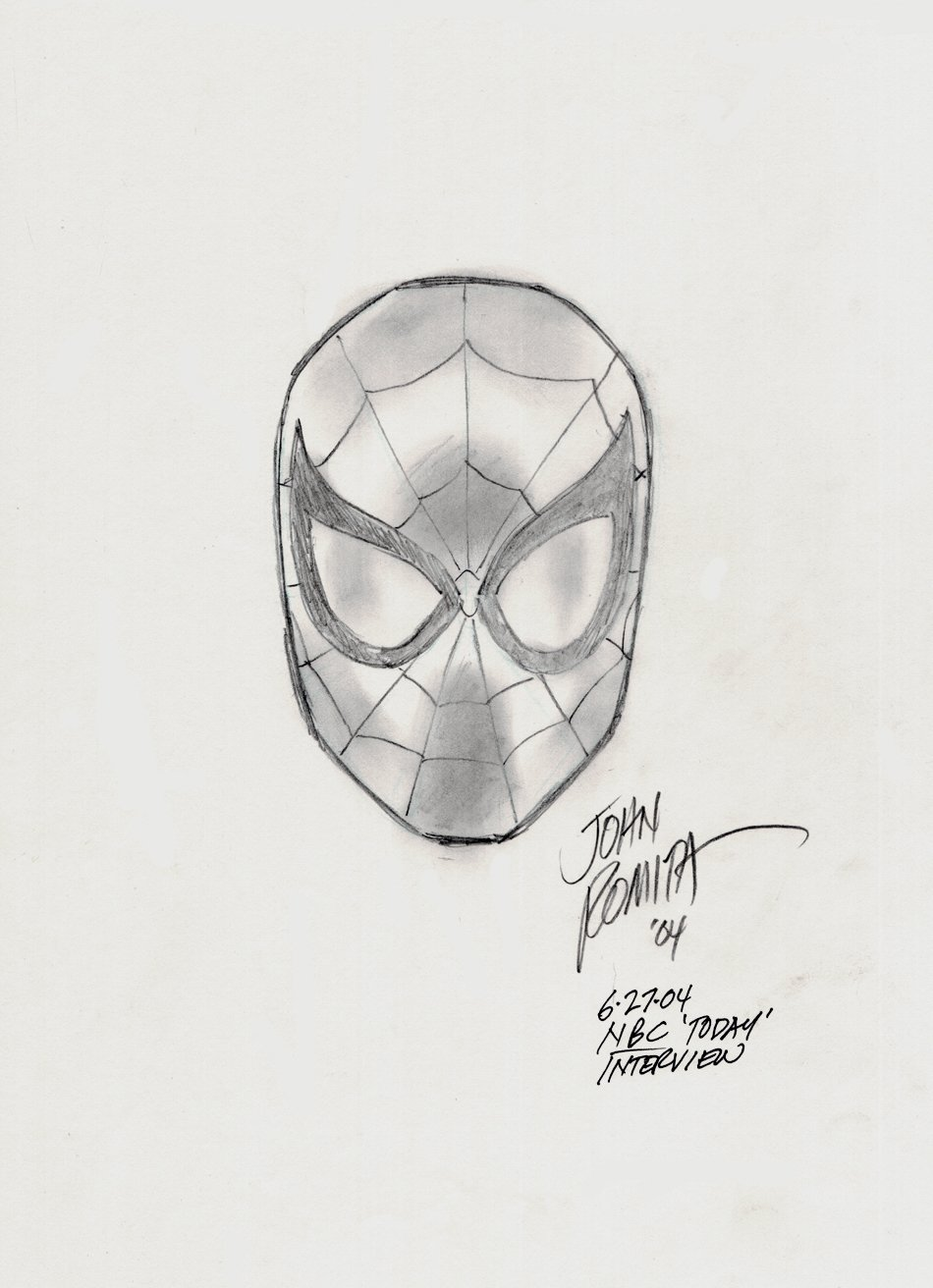 Spider-Man Drawing - NBC TODAY SHOW (SOLD LIVE ON 'DUELING DEALERS OF COMIC ART' EPISODE #18 PODCAST ON 5-19-2021 (RE-WATCH OUR FUNNY ART SELLING SHOW HERE