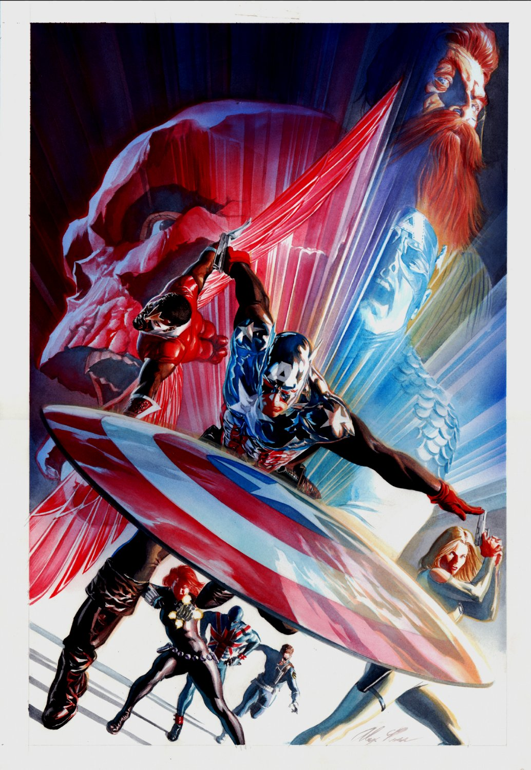 Captain America #600 ANNIVERSARY Cover Painting (Large Art) 2009