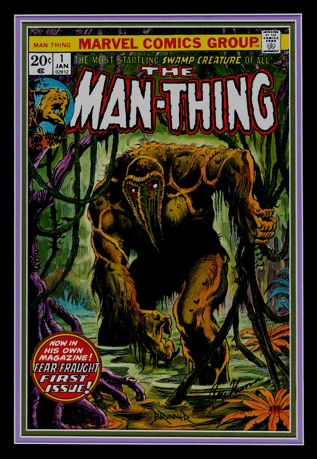 Man-Thing #1 Cover Re-Creation (SIMPLY STUNNING!) Large - 2008