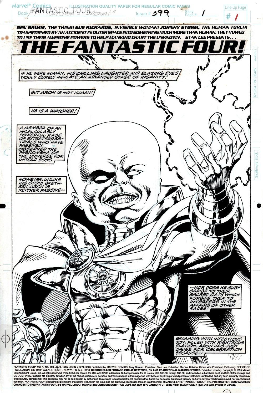 Fantastic Four #399 p 1 SPLASH (Aron The Rogue Watcher!) 1994