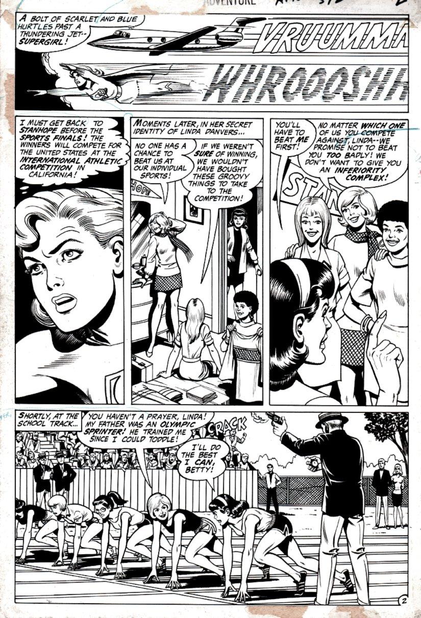 Adventure Comics #392 p 2 (SUPERGIRL IN COSTUME!) 1969