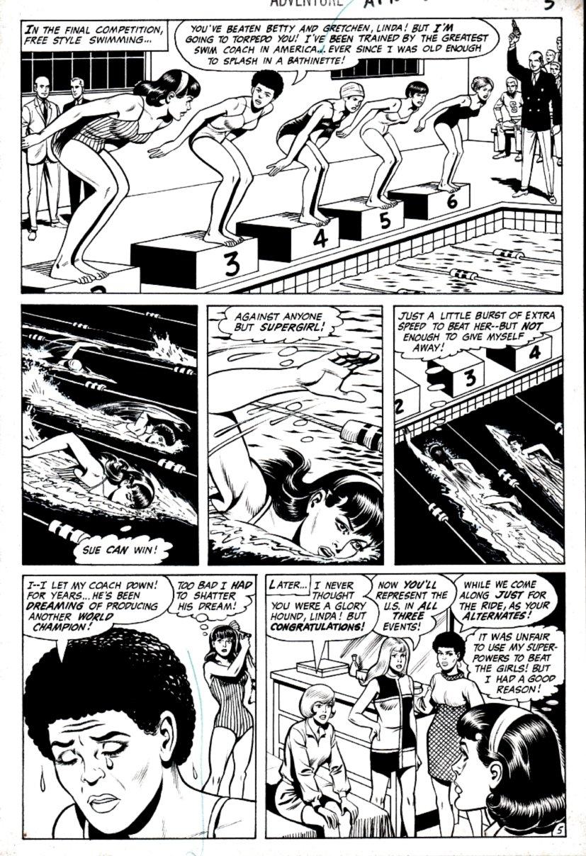 Adventure Comics #392 p 5 (Supergirl - Super Cheat!) 1969