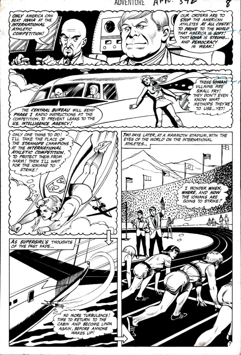 Adventure Comics #392 p 7 (SUPERGIRL IN COSTUME!) 1969