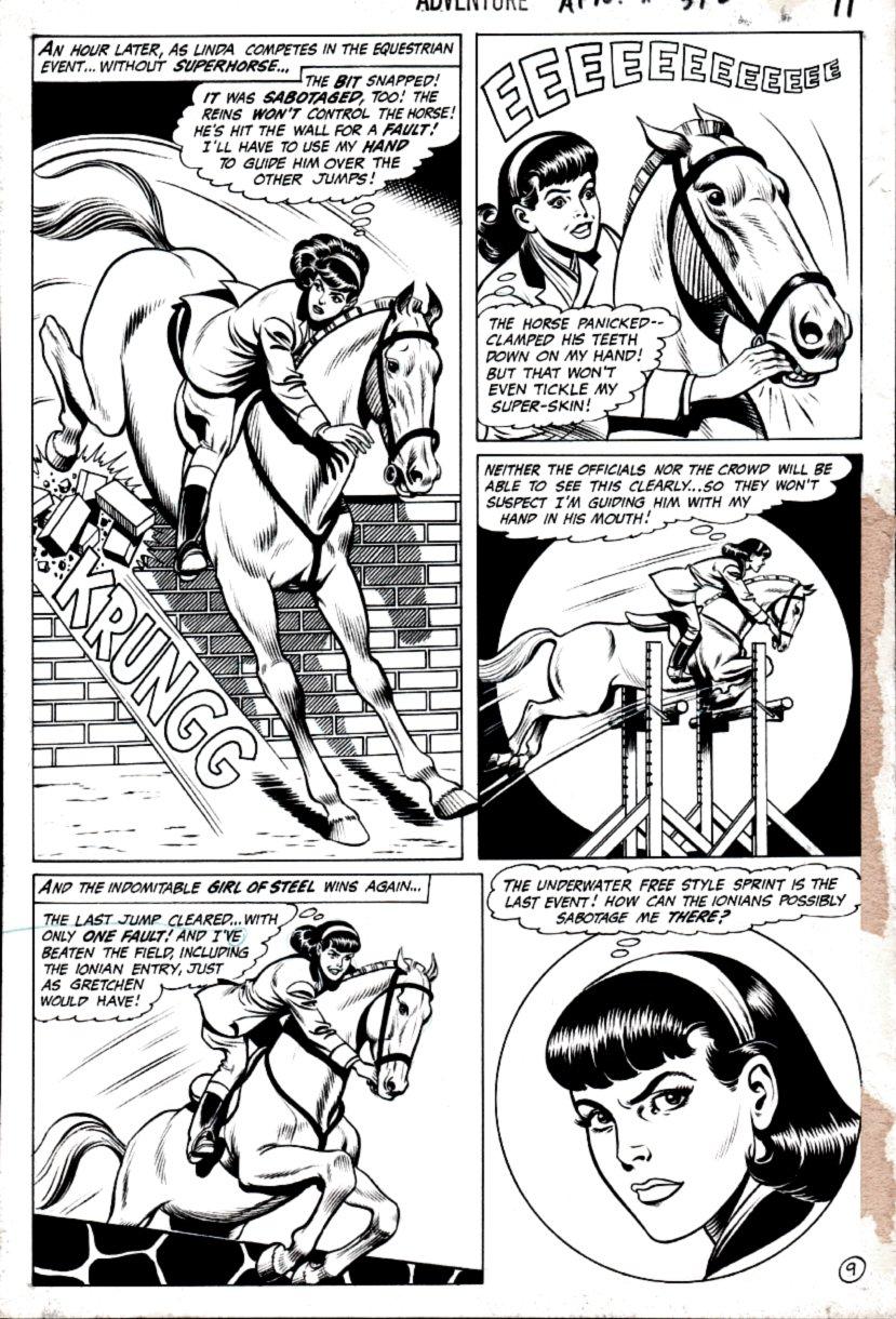 Adventure Comics #392 p 9 (Supergirl - Super Cheat!) 1969