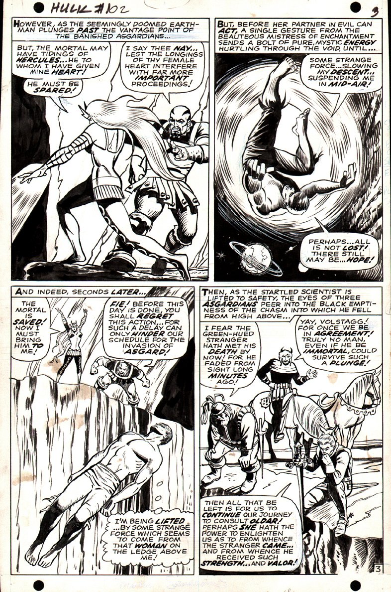 Incredible Hulk #102 p 3 (FIRST ISSUE!) 1967