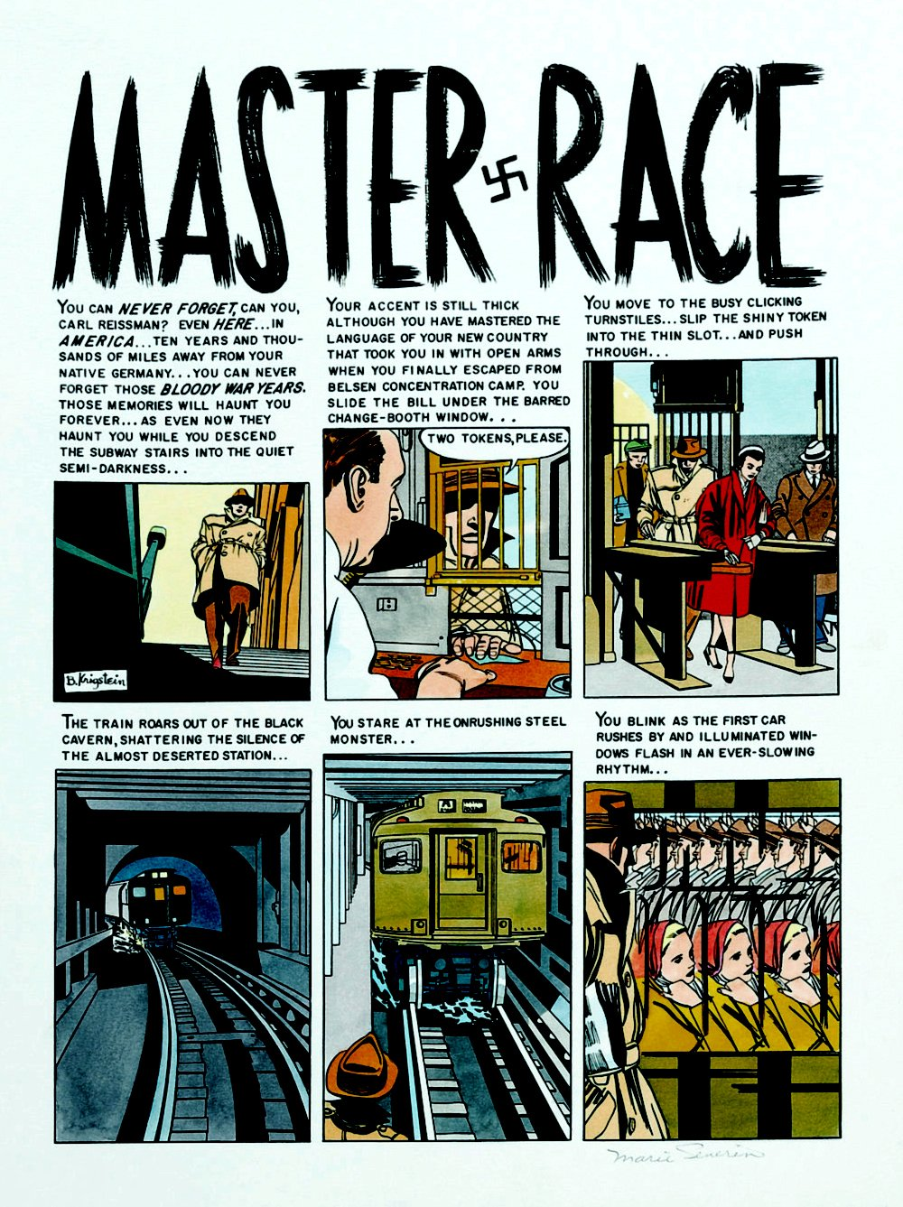 'Master Race' Complete 8-Page Color Production Art Story