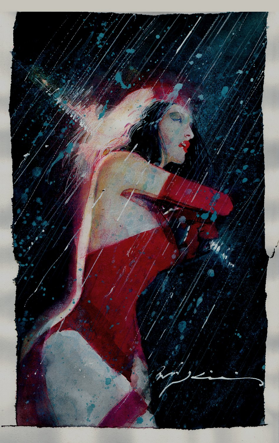 Elektra Painted Cover Recreation
