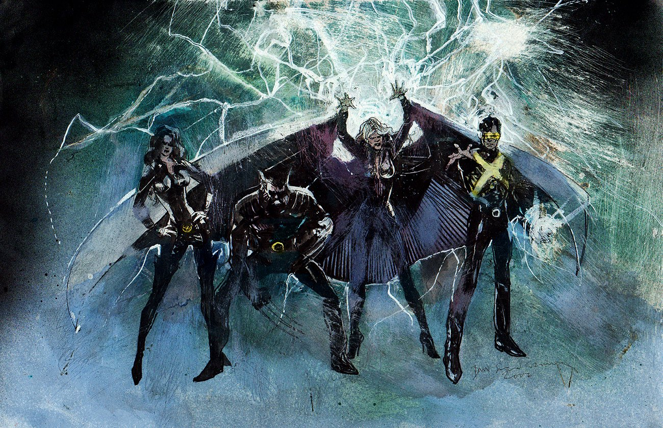 X-Men Movie Concept Painting (2002)