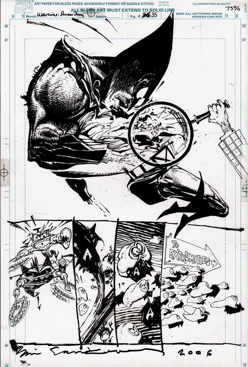Wolverine: Inner Fury p 35 (SEMI-SPLASH) 1992