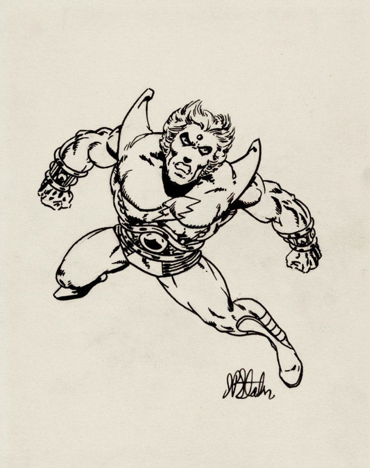 Adam Warlock Early Drawing (SOLD LIVE ON 'DUELING DEALERS OF COMIC ART' EPISODE #39 PODCAST ON 10-4-2021